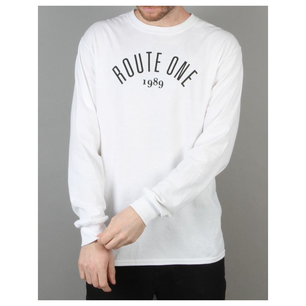 Route One Logo LS T-Shirt - White (S)