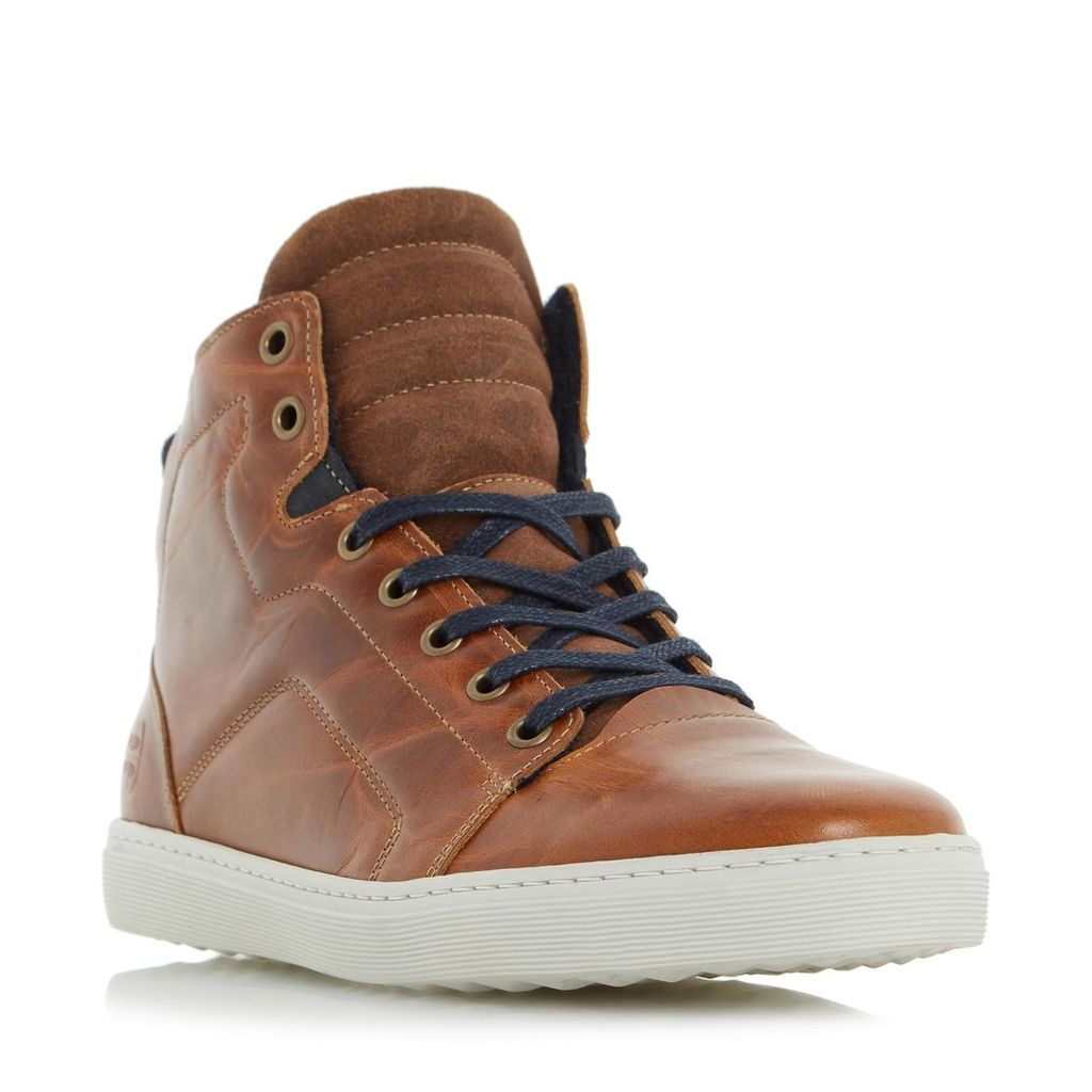 Springer Padded Collar Leather High Top Trainer