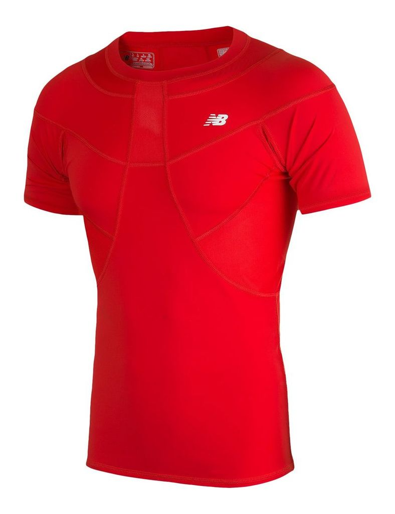 New Balance Men's Compression SS Tee Men's Football WSTM755HRD
