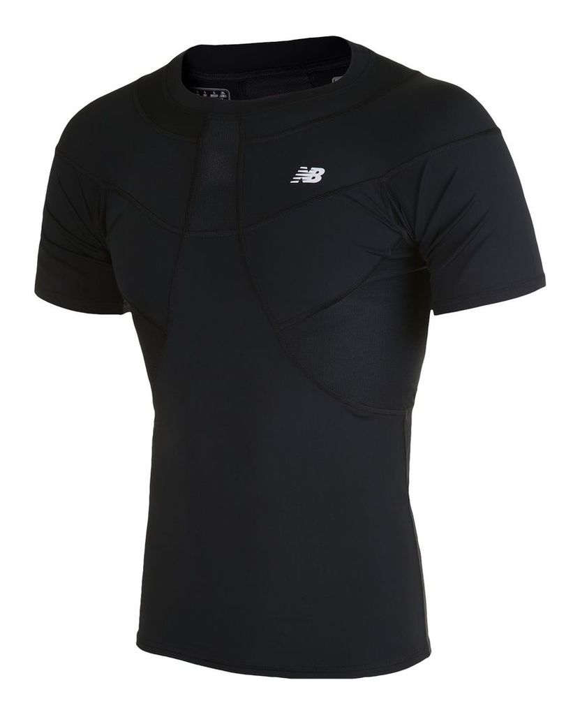 New Balance Men's Compression SS Tee Men's Football WSTM755BK