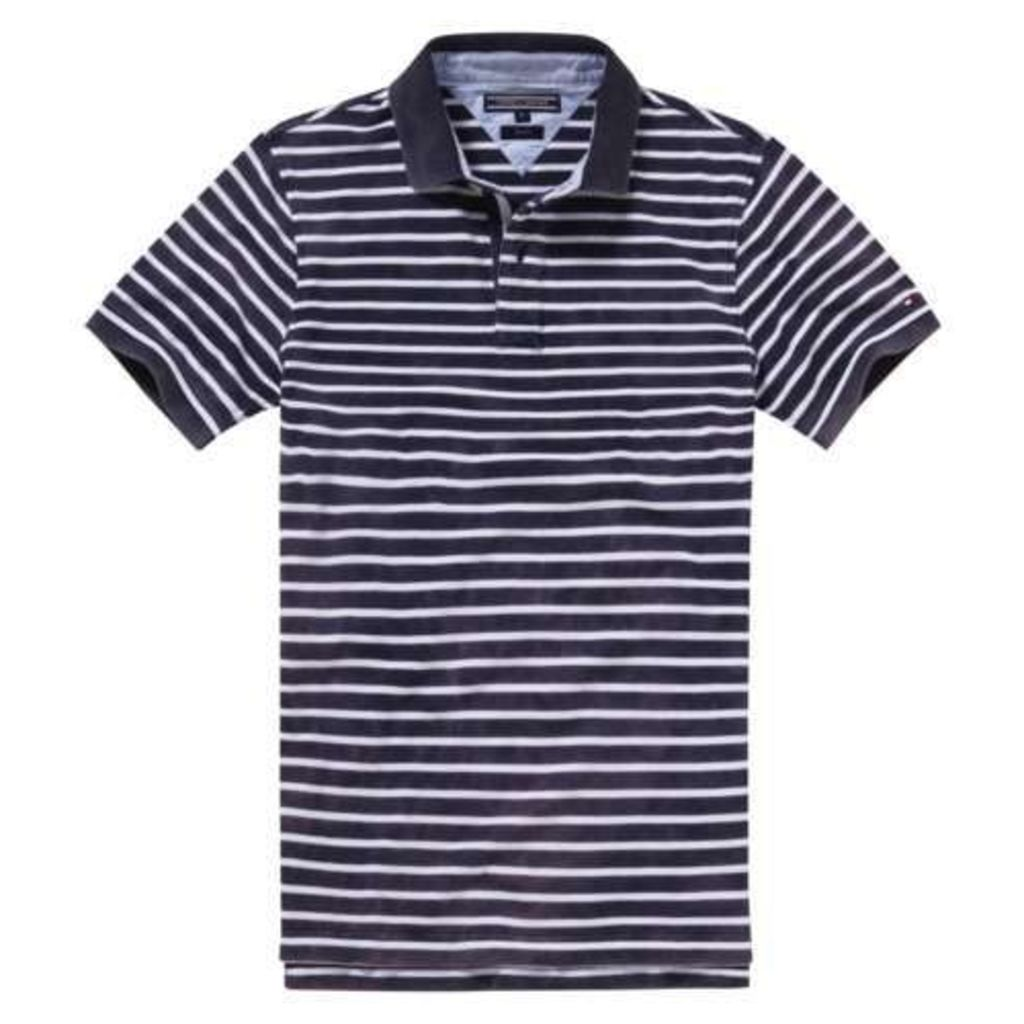 Men's Tommy Hilfiger Stripe Polo Slim Fit Polo Shirt, Navy