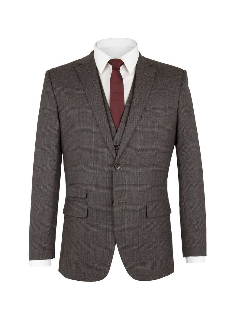 Men's Racing Green Spencer Check Jacket, Charcoal