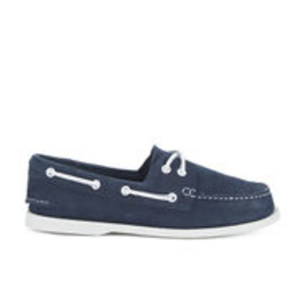 Sperry Men's A/O 2-Eye Washable Leather Boat Shoes - Navy - UK 9