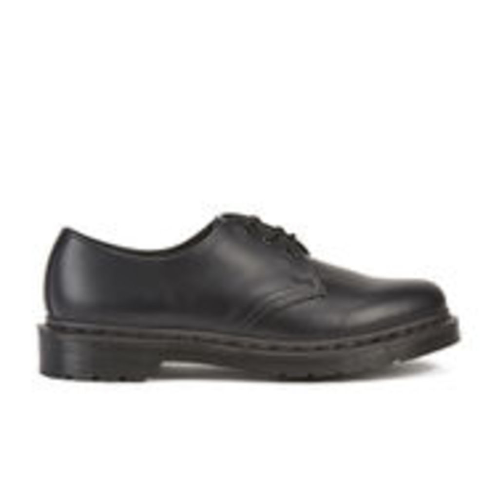 Dr. Martens Men's Core 1461 Mono Smooth Leather 3-Eye Derby Shoes - Black - UK 8