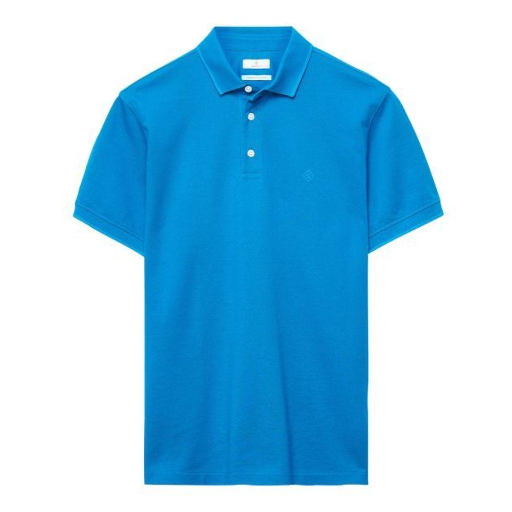 Pima Cotton Polo Shirt - Teal Blue