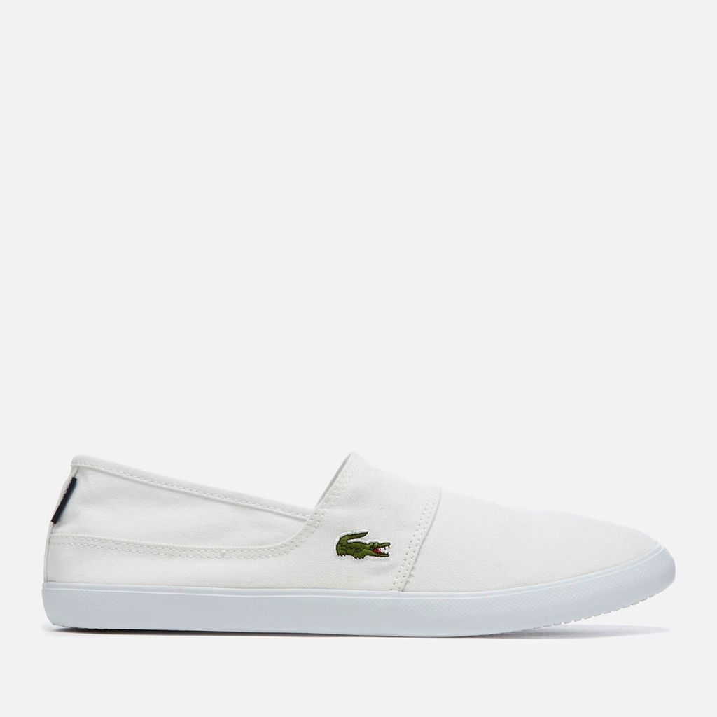 Lacoste Men's Marice BL 2 Canvas Slip-On Pumps - White - UK 7