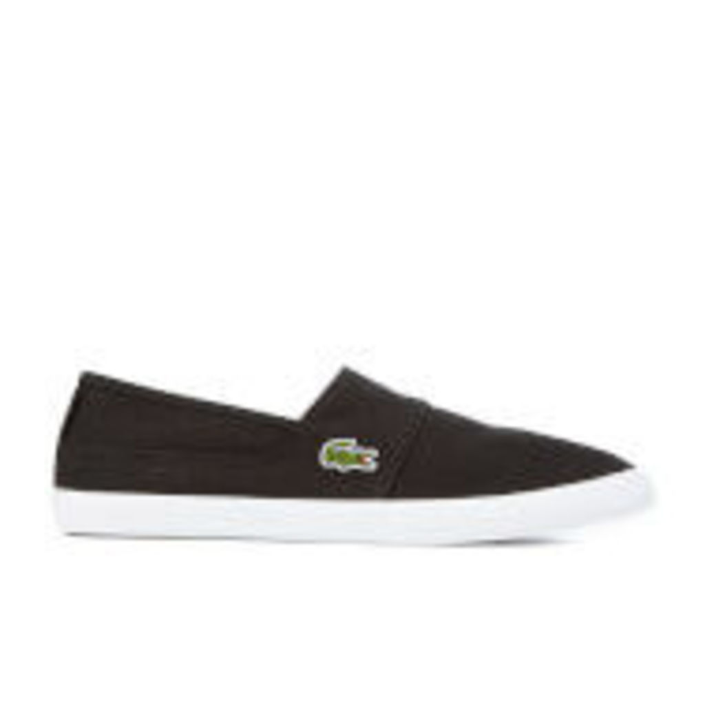 Lacoste Men's Marice BL 2 Canvas Slip-On Pumps - Black - UK 9