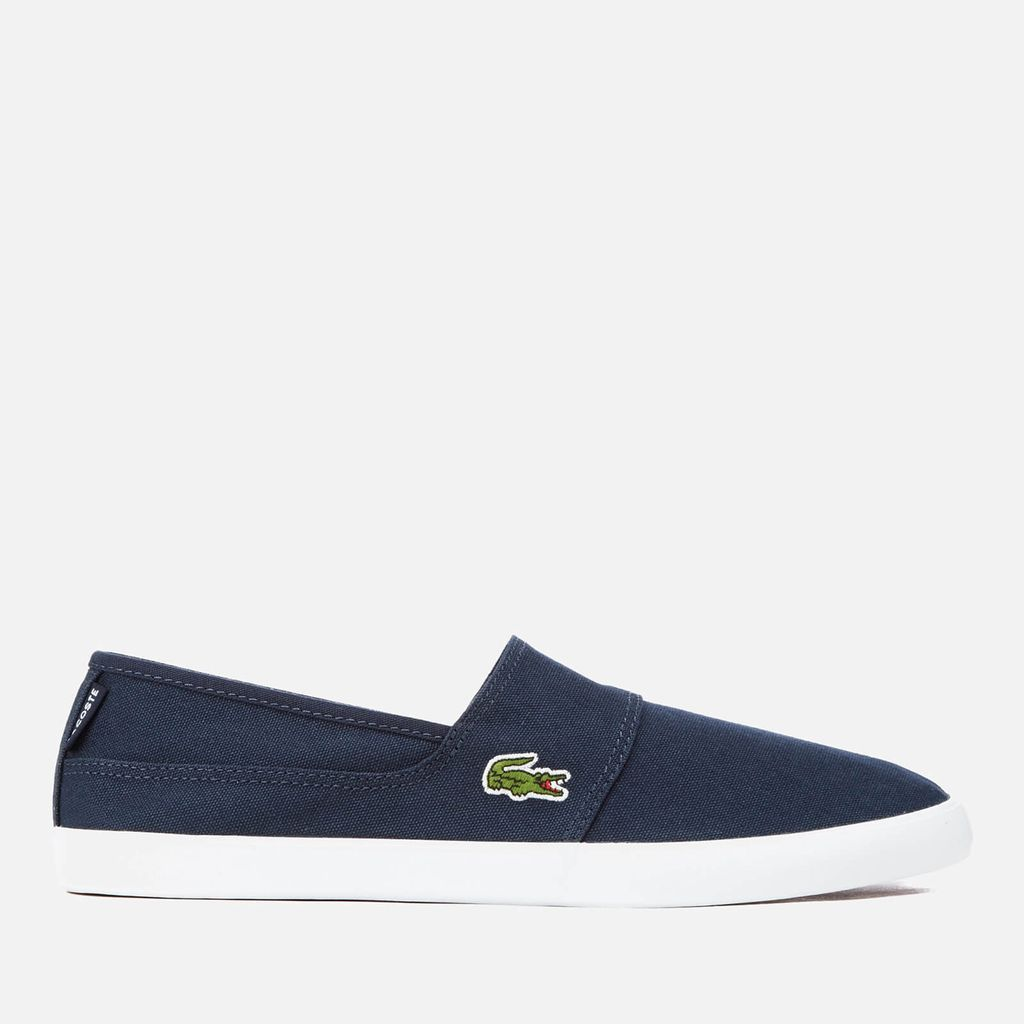 Lacoste Men's Marice BL 2 Canvas Slip-On Pumps - Dark Blue/Dark Blue - UK 10