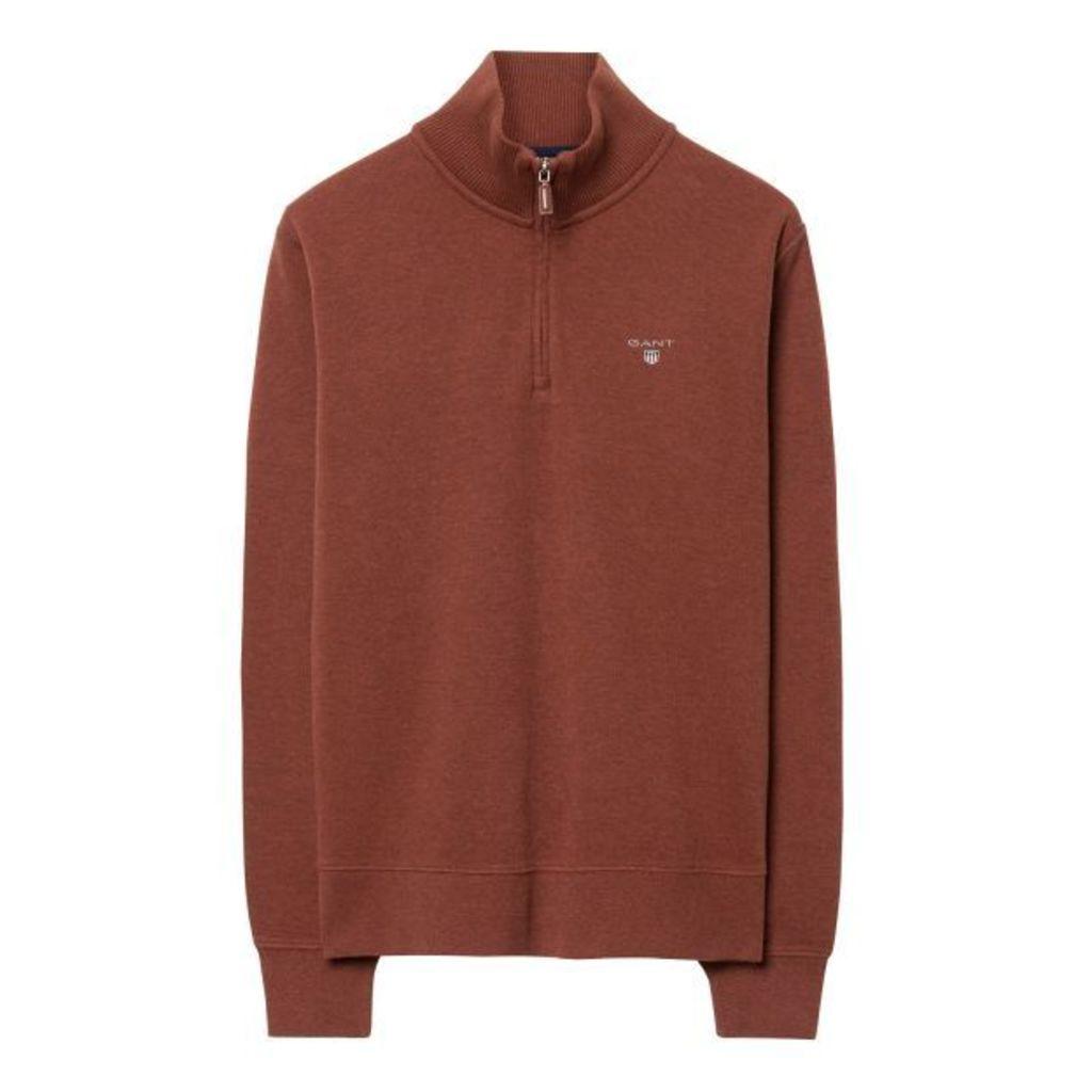 Sacker Ribbed Half-zip Sweatshirt -