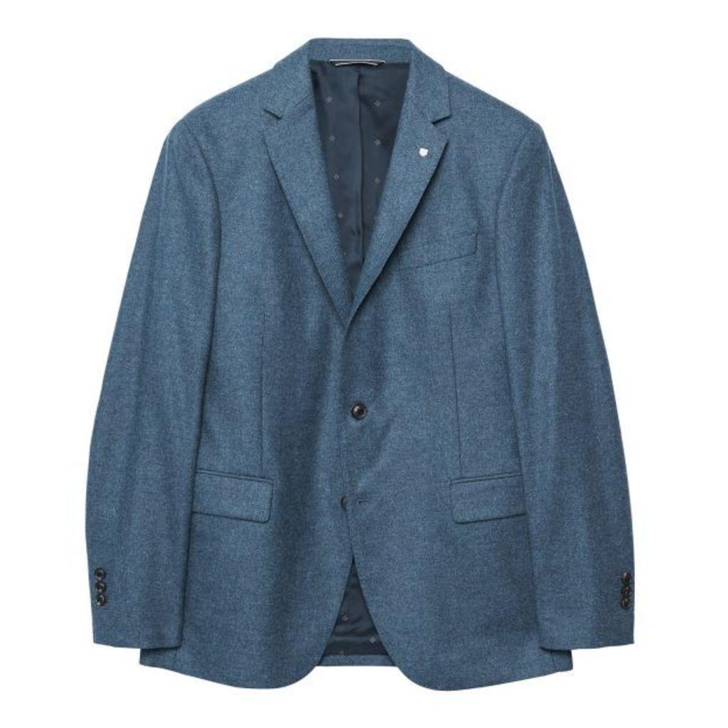 Lambswool Blazer - Persian Blue