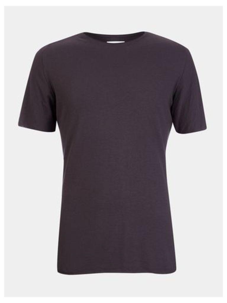 Mens Nowadays Black Open Edge T-Shirt*, Black