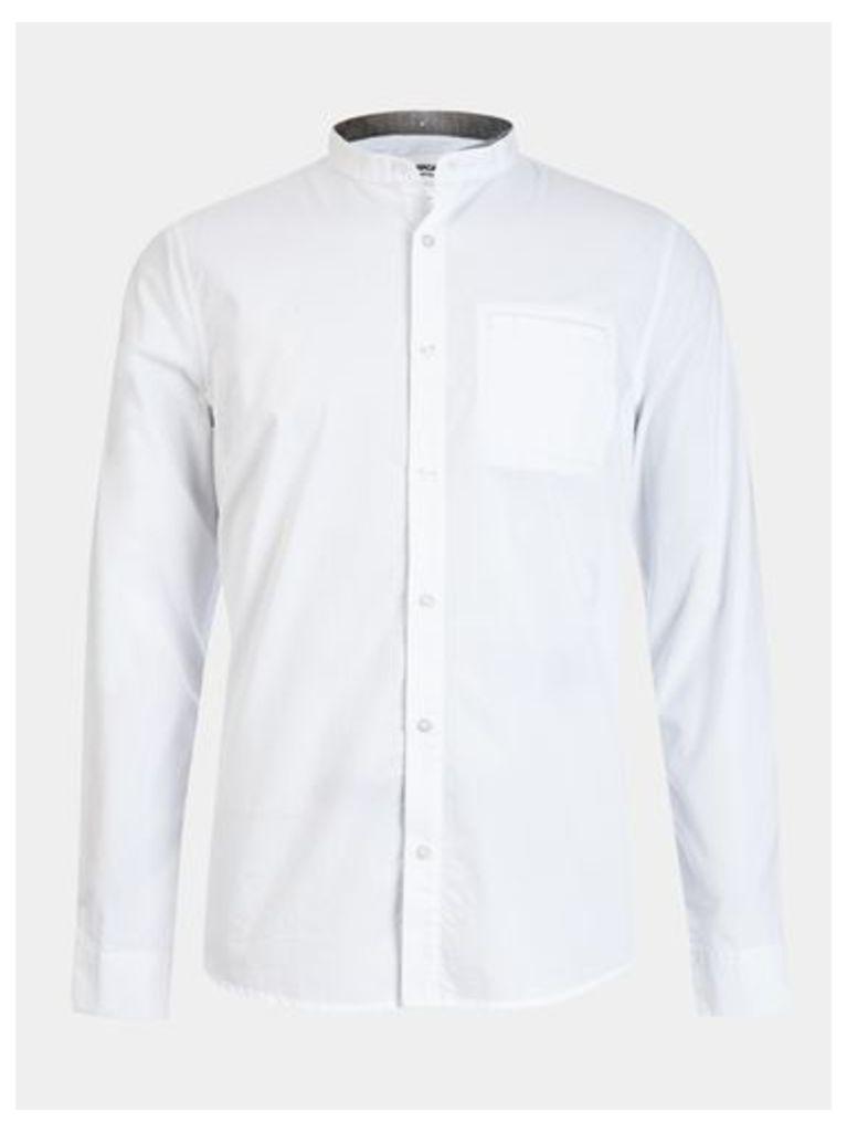 Mens Nowadays White Double Collar Shirt*, White