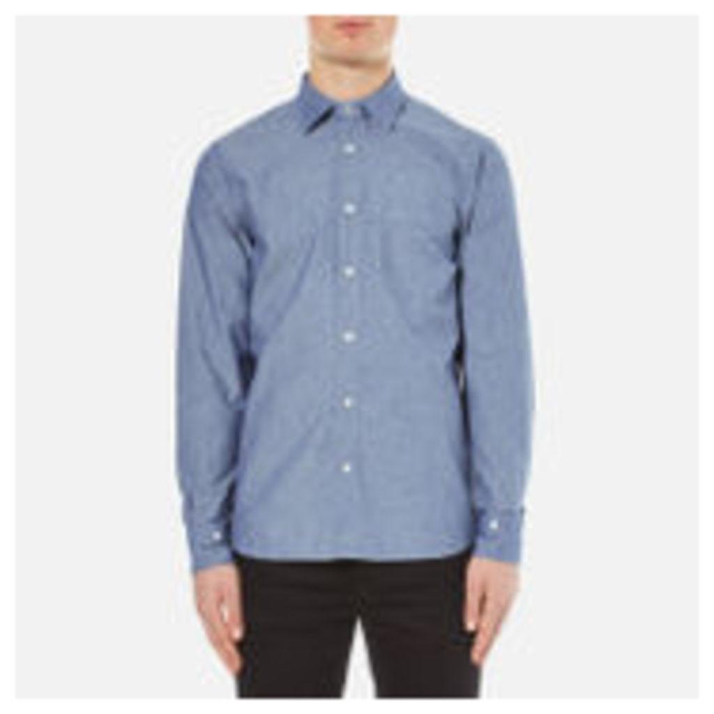Vivienne Westwood Anglomania Men's Detachable Details Shirt - Blue Chambray - EU 50/L