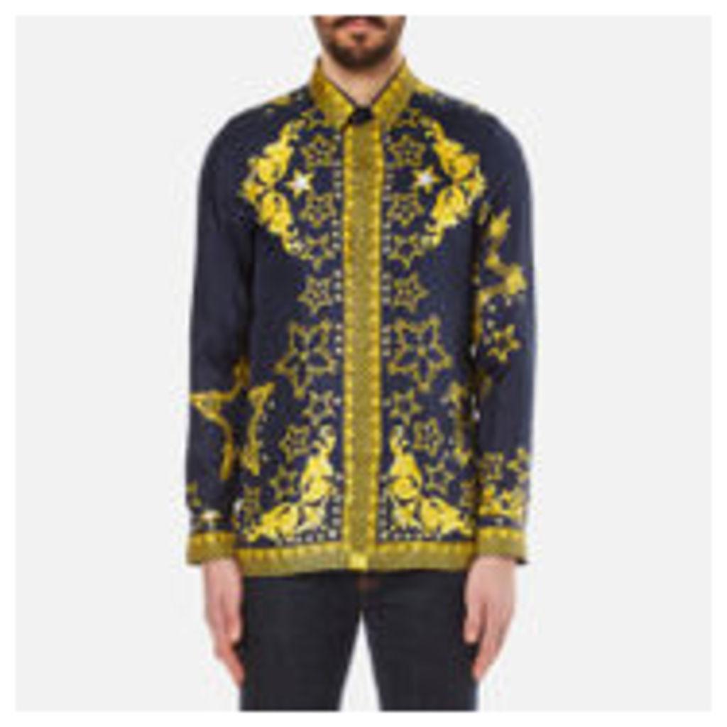 Versace Collection Men's Silk Printed Shirt - Blue - EU 38/S
