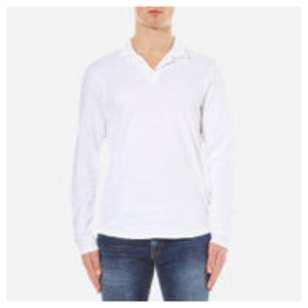 Orlebar Brown Men's Massey Long Sleeve Slub Top - White - XL