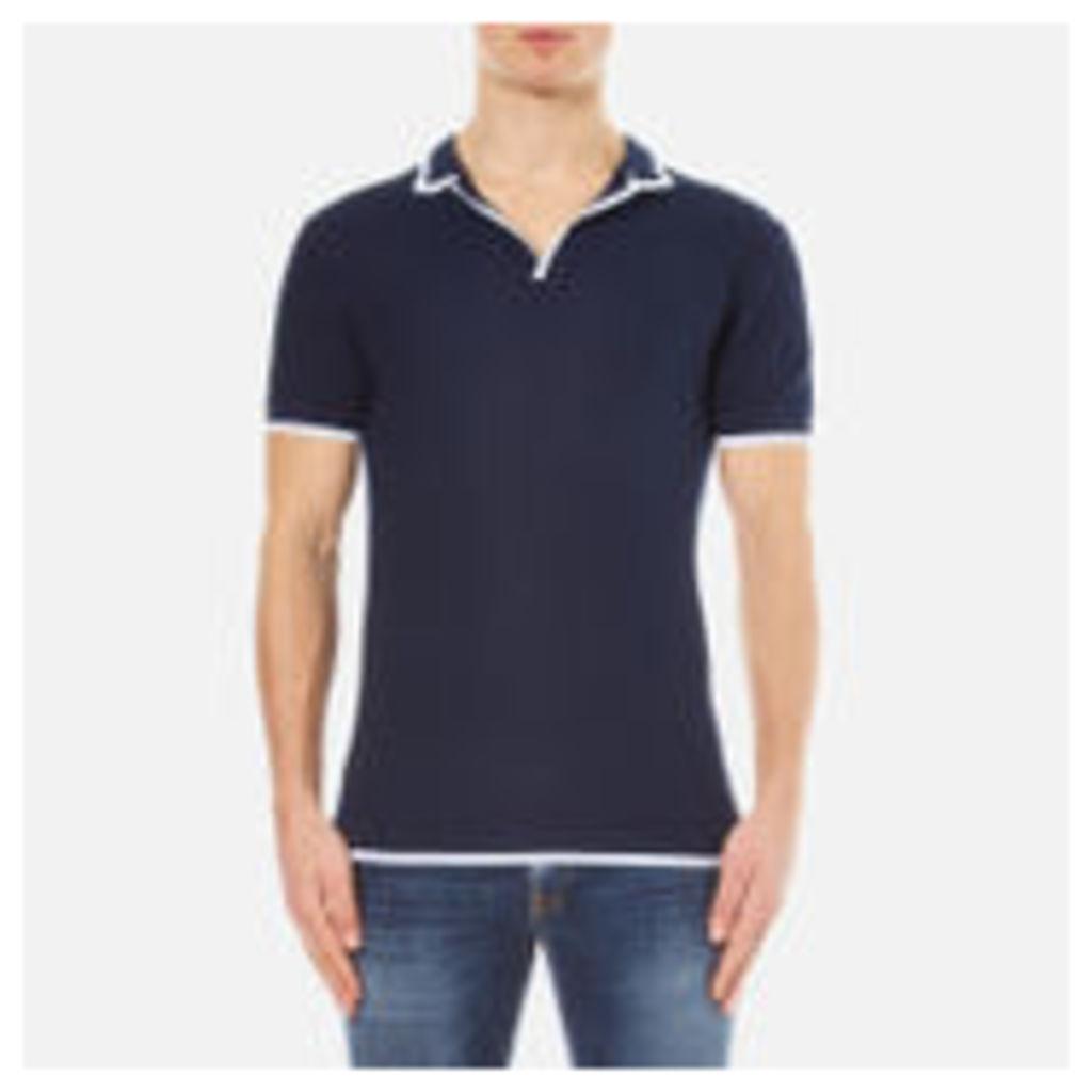 Orlebar Brown Men's Erick Tipped Polo Shirt - Navy/White Tipping - XL
