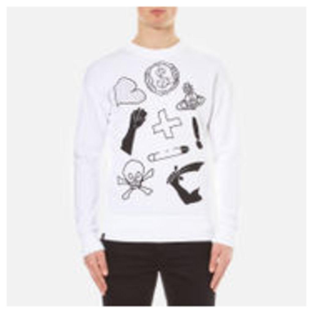 Vivienne Westwood Anglomania Men's News Sweatshirt - White - XL