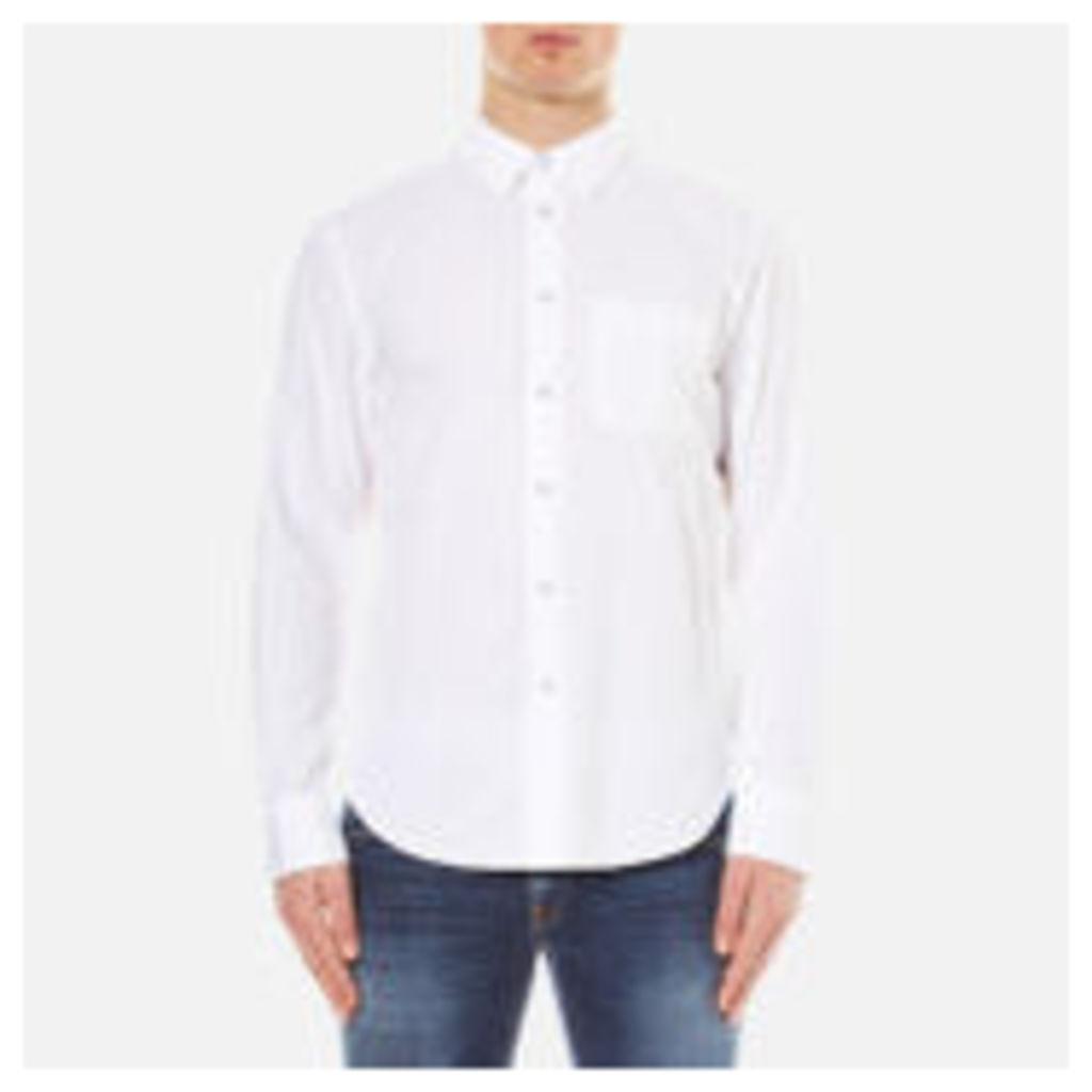 rag & bone Men's Standard Issue Beach Shirt - White - XL