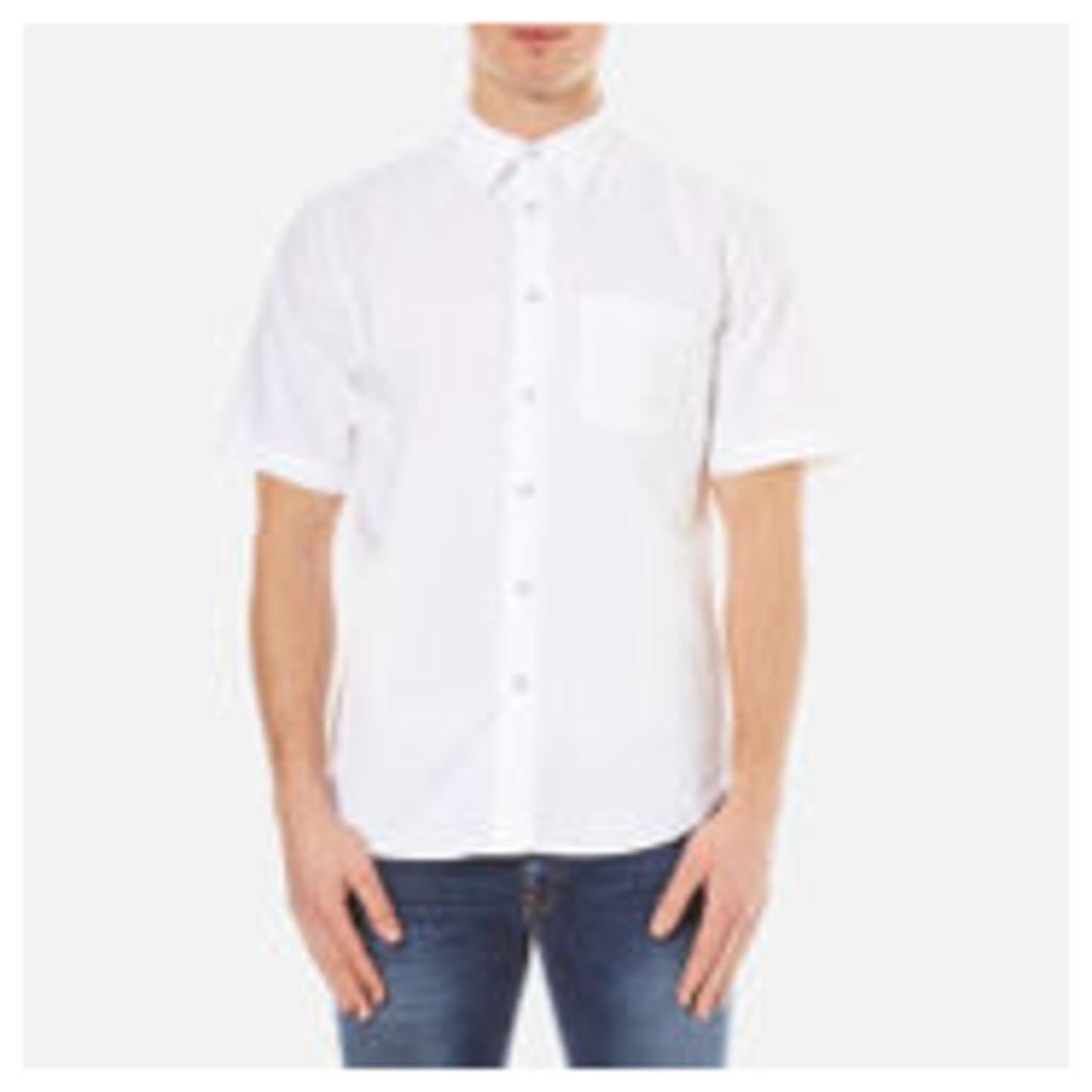 rag & bone Men's Standard Issue Short Sleeve Beach Shirt - White - XL