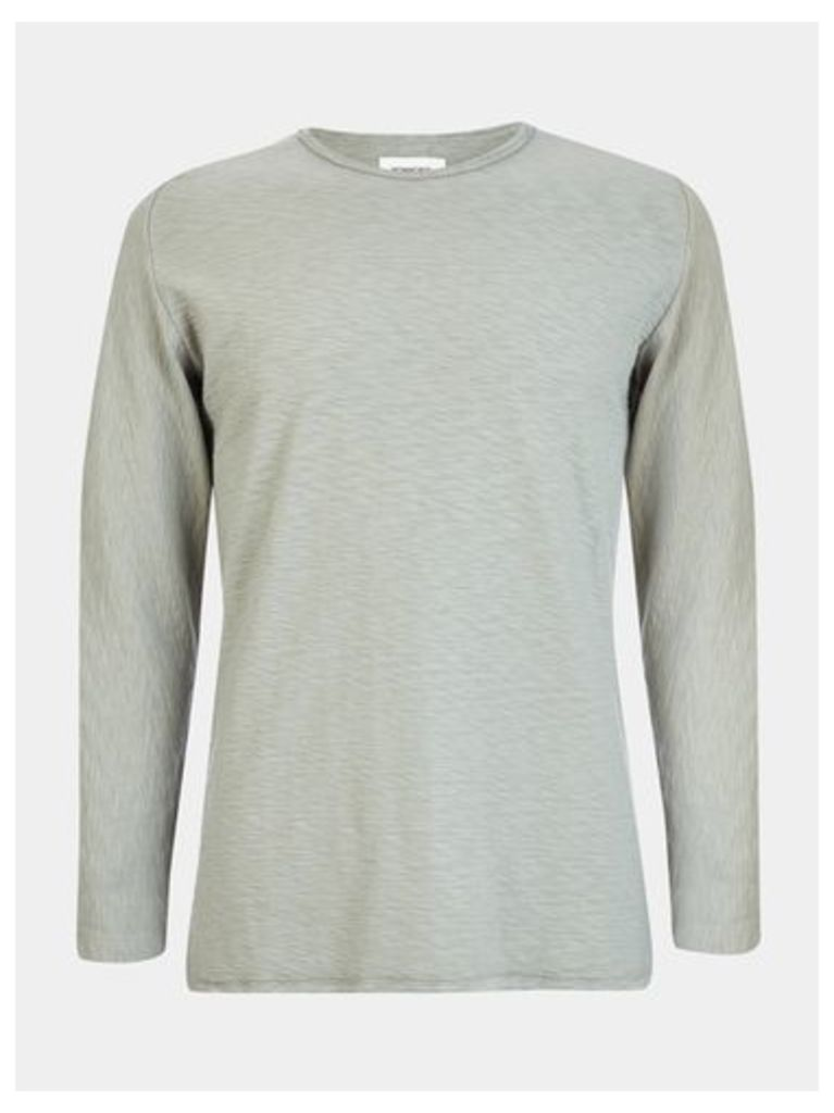 Mens Nowadays Green Heavy Long Sleeved Top*, Green