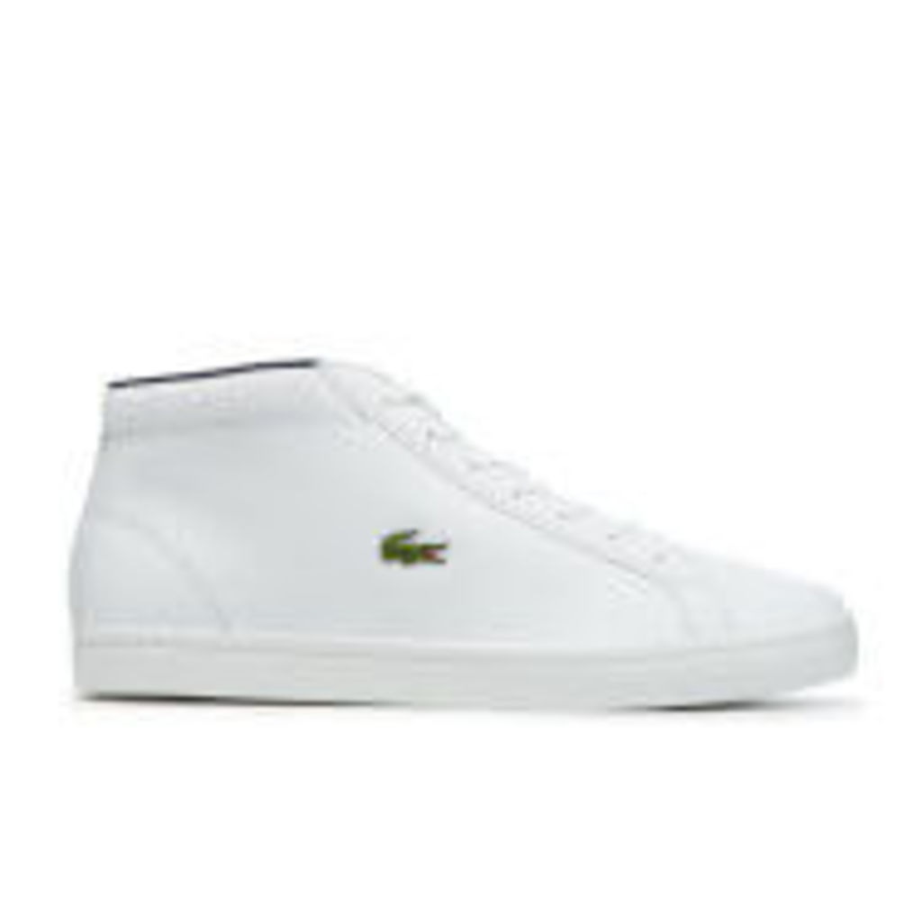 Lacoste Men's Straightset SP Chukka 117 1 Leather Mid-Top Trainers - White - UK 11