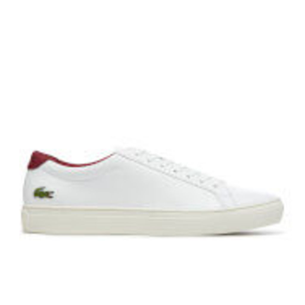 Lacoste Men's L.12.12 117 2 Leather Cupsole Trainers - White/Dark Red - UK 11