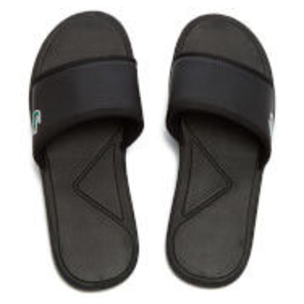 Lacoste Men's L.30 Slide Sport Slide Sandals - Black - UK 11