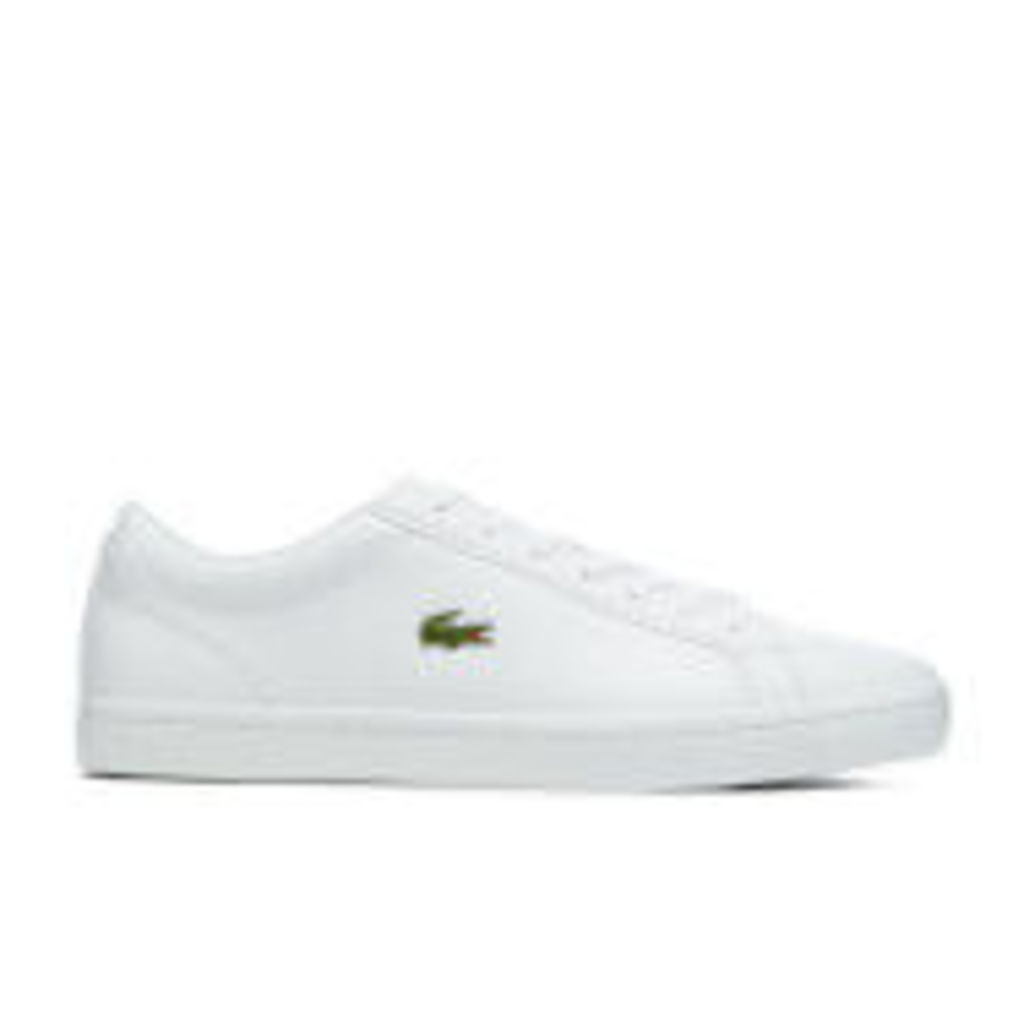 Lacoste Men's Straightset BL 1 Leather Cupsole Trainers - White - UK 11