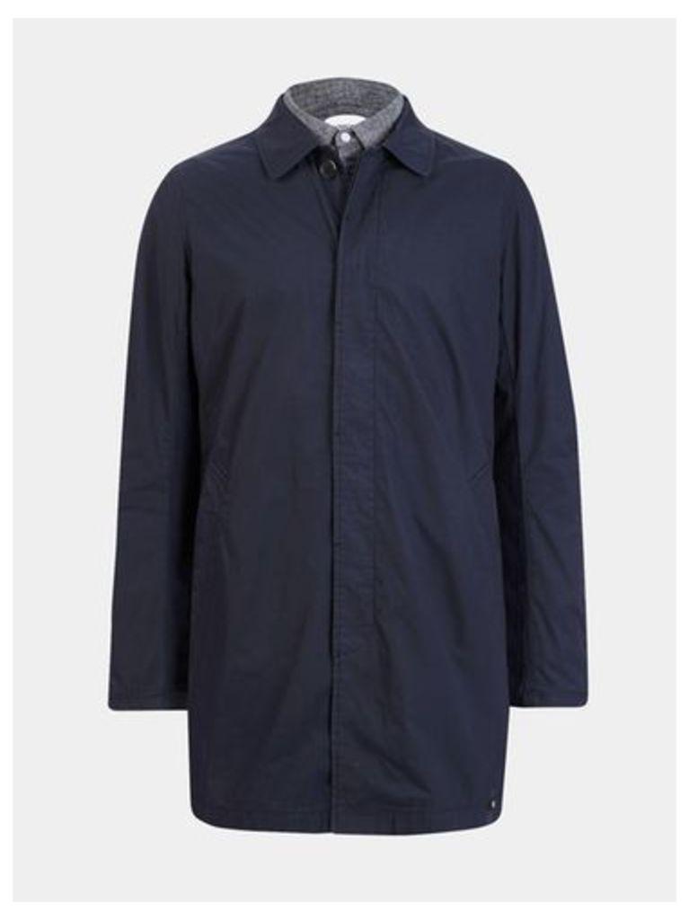 Mens Nowadays Navy Creased Jacket*, Blue