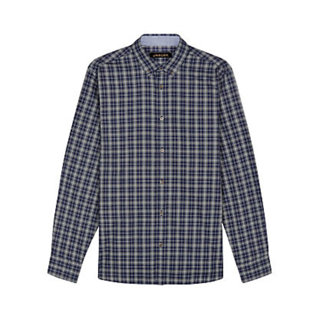 Jaeger Multi Check Regular Fit Shirt, Olive