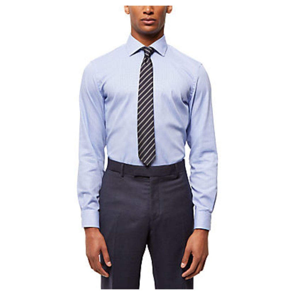 Jaeger Houndstooth Slim Fit Shirt, Blue