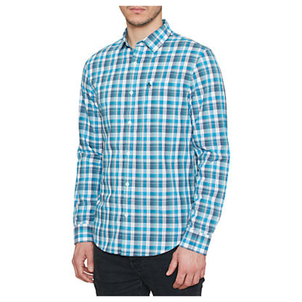 Original Penguin Madras Check Long Sleeve Shirt, Diva Blue