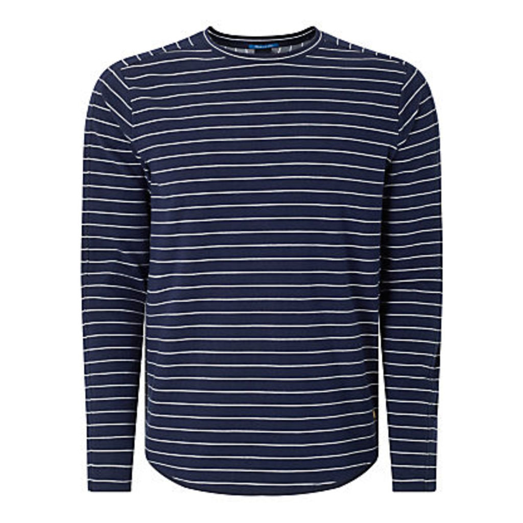Scotch & Soda Stripe Long Sleeve T-Shirt, Navy