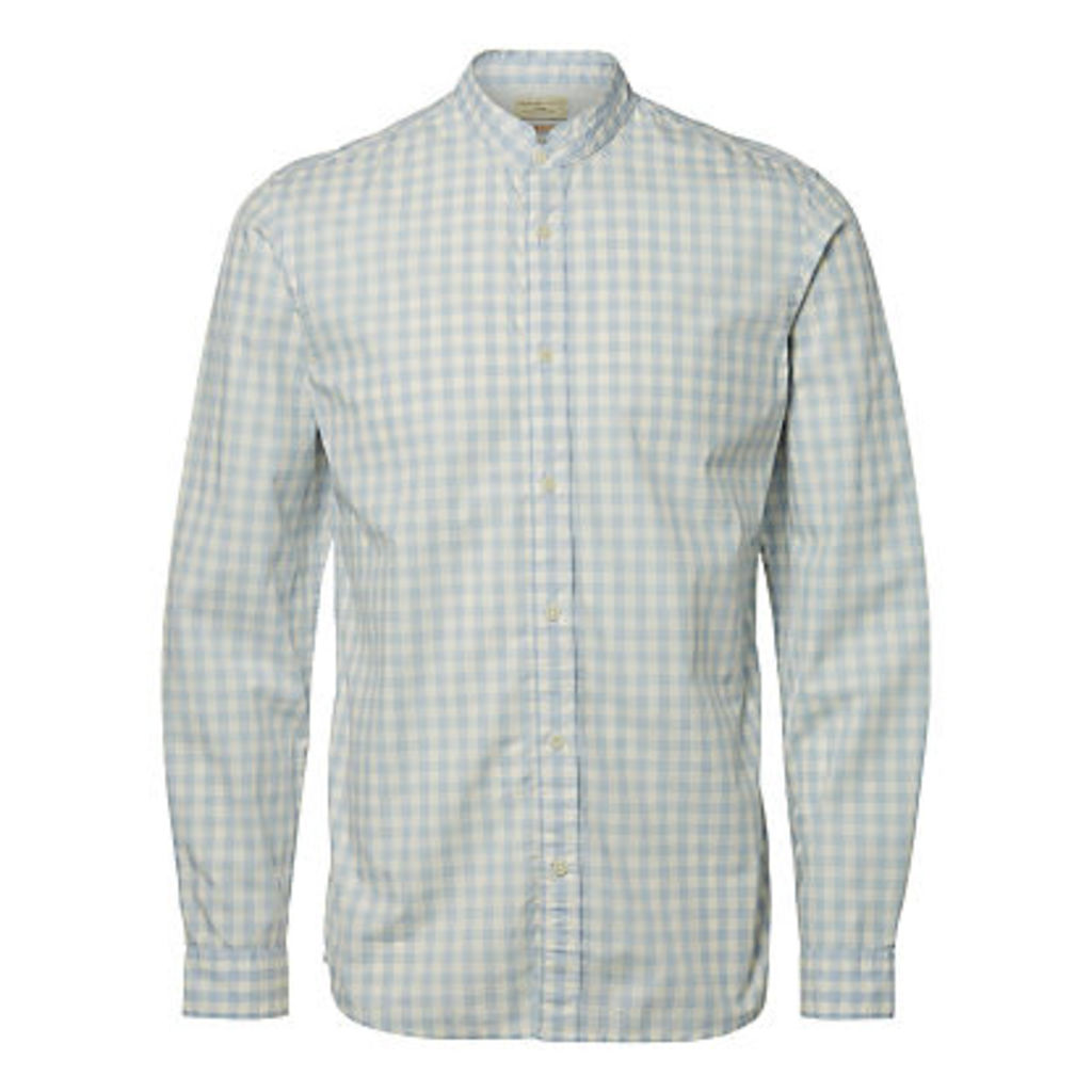 Selected Homme Jacque Long Sleeve Check Shirt, Forever Blue