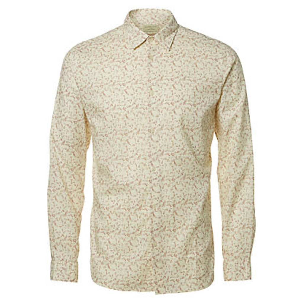 Selected Homme Onelab Long Sleeve Shirt, Burlwood/Papyrus