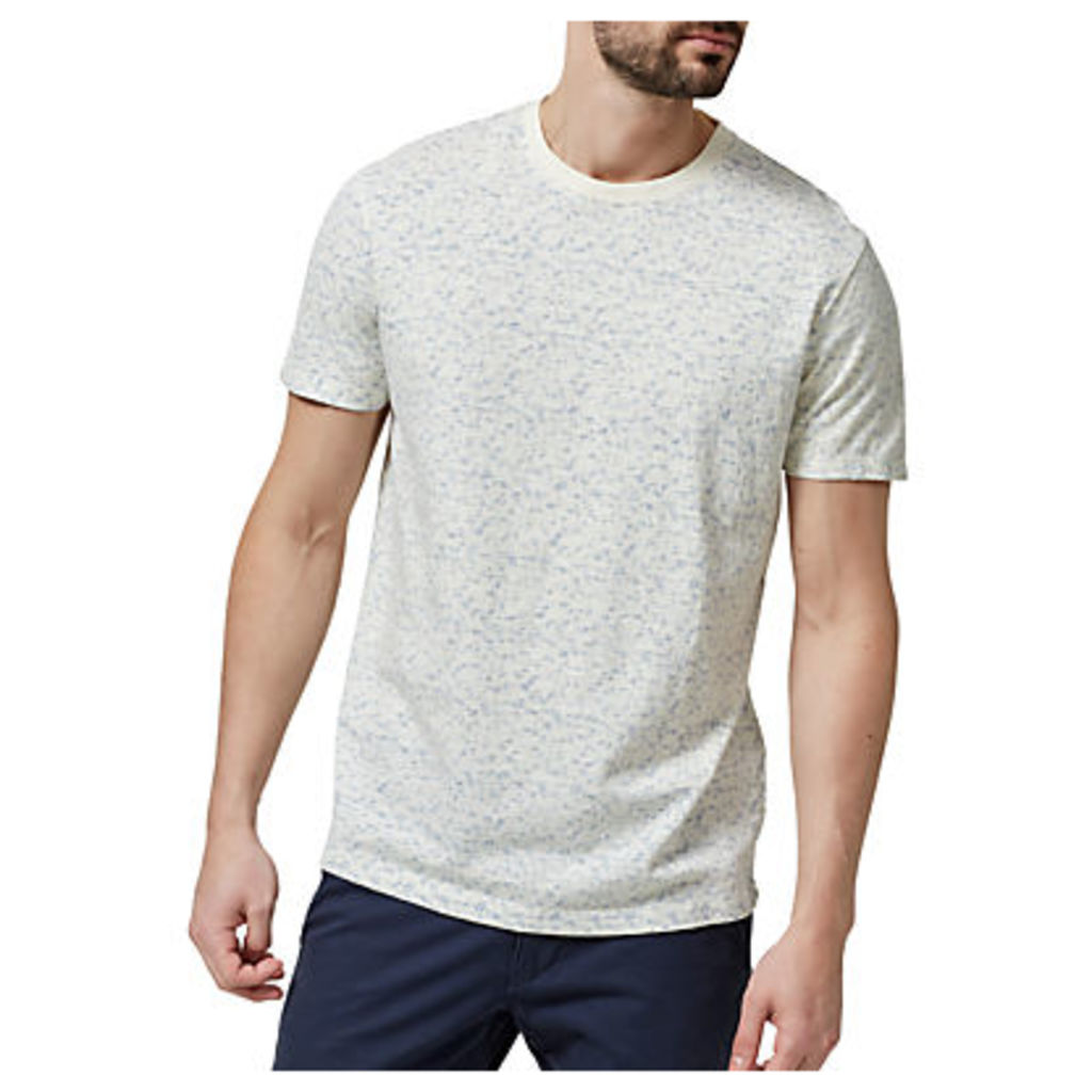 Selected Homme Short Sleeve Print T-Shirt, Forever Blue/Papyrus