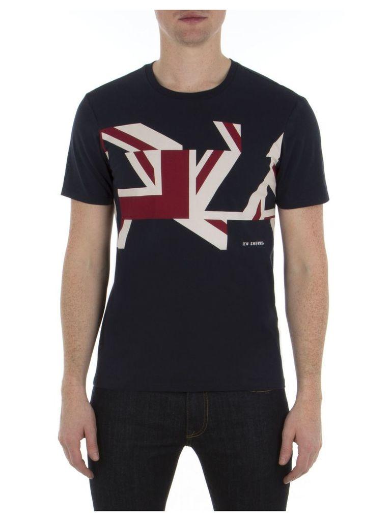Graphic Union Jack T-Shirt XXS B51 Navy Blazer