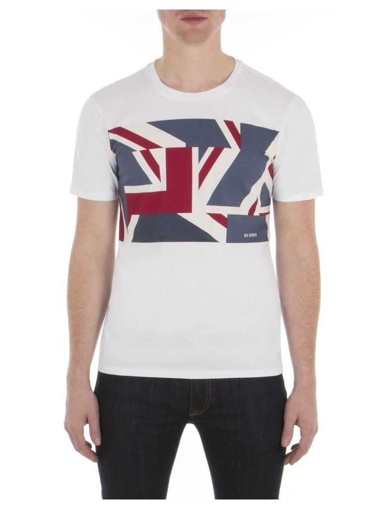 Graphic Union Jack T-Shirt XXS A47 Brigth White