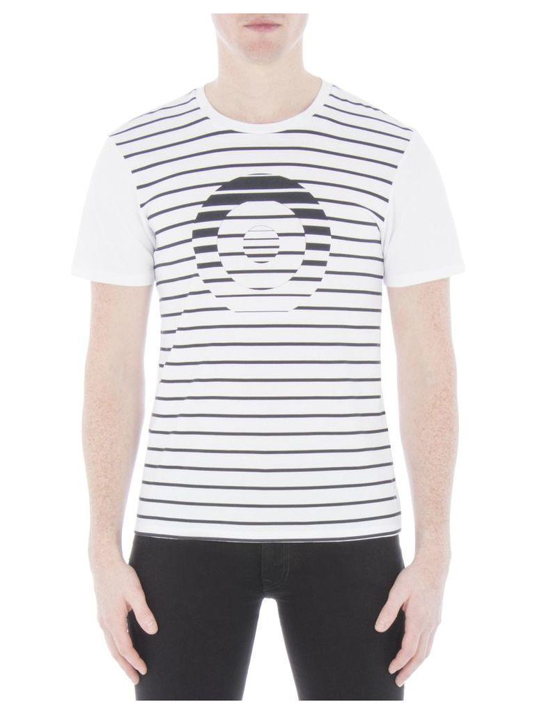 Mono Stripe Target T-Shirt XXS A47 Bright White