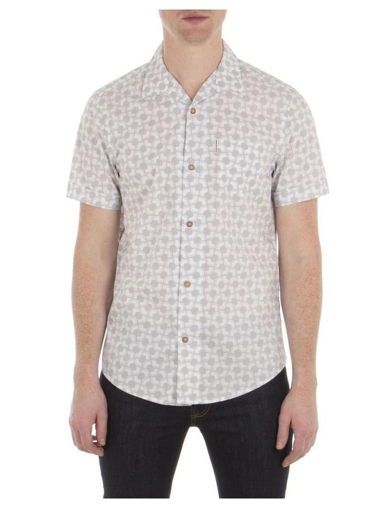 Short Sleeve Optical Stripe Shirt XXS P20 SIlver Ash