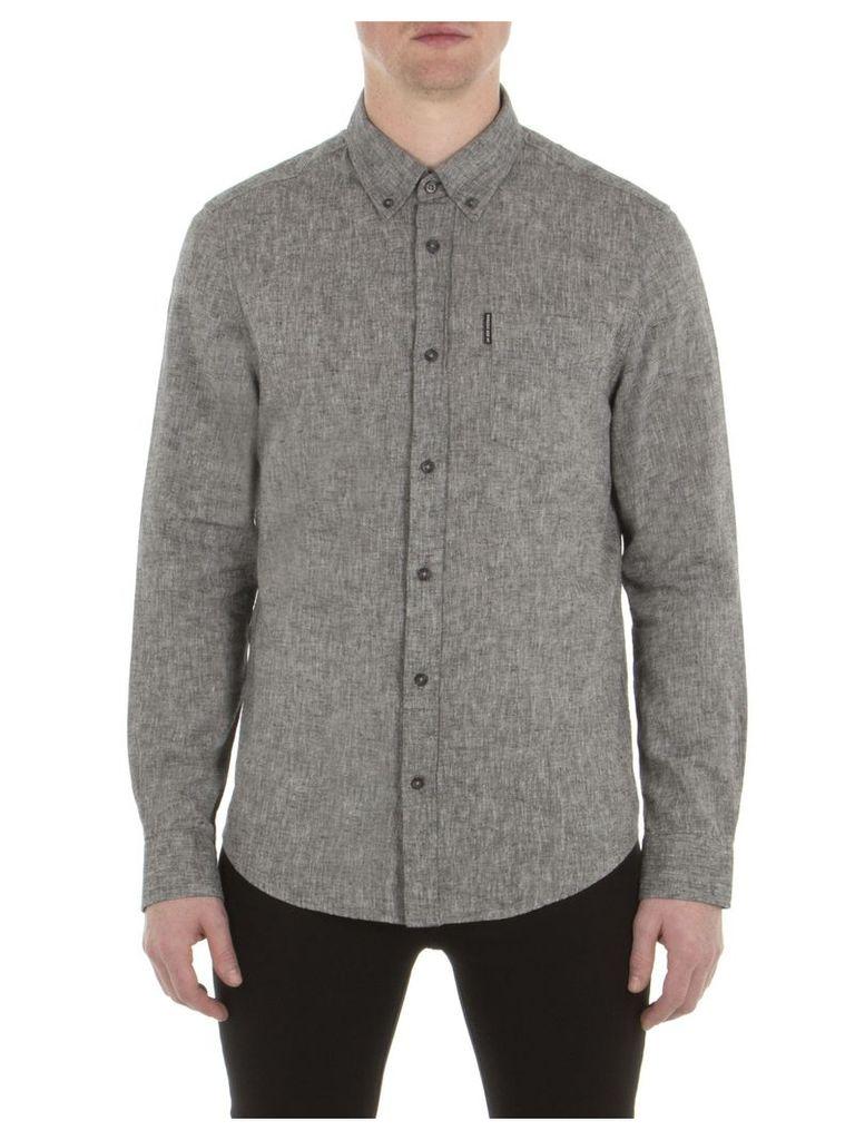 Long Sleeve Linen Shirt XXS TBL True Black