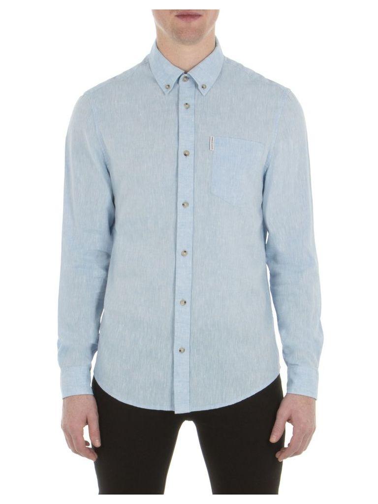 Long Sleeve Linen Shirt XXS SKY Sky Blue