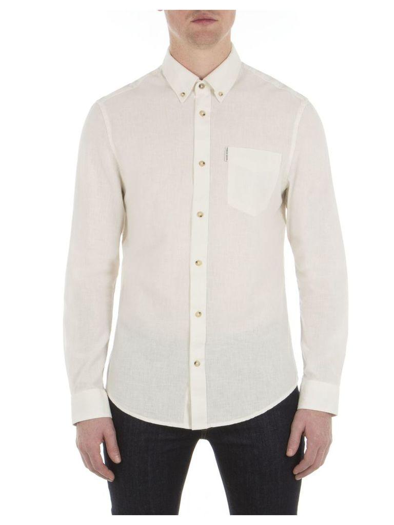 Long Sleeve Linen Shirt XXS OFW Off White