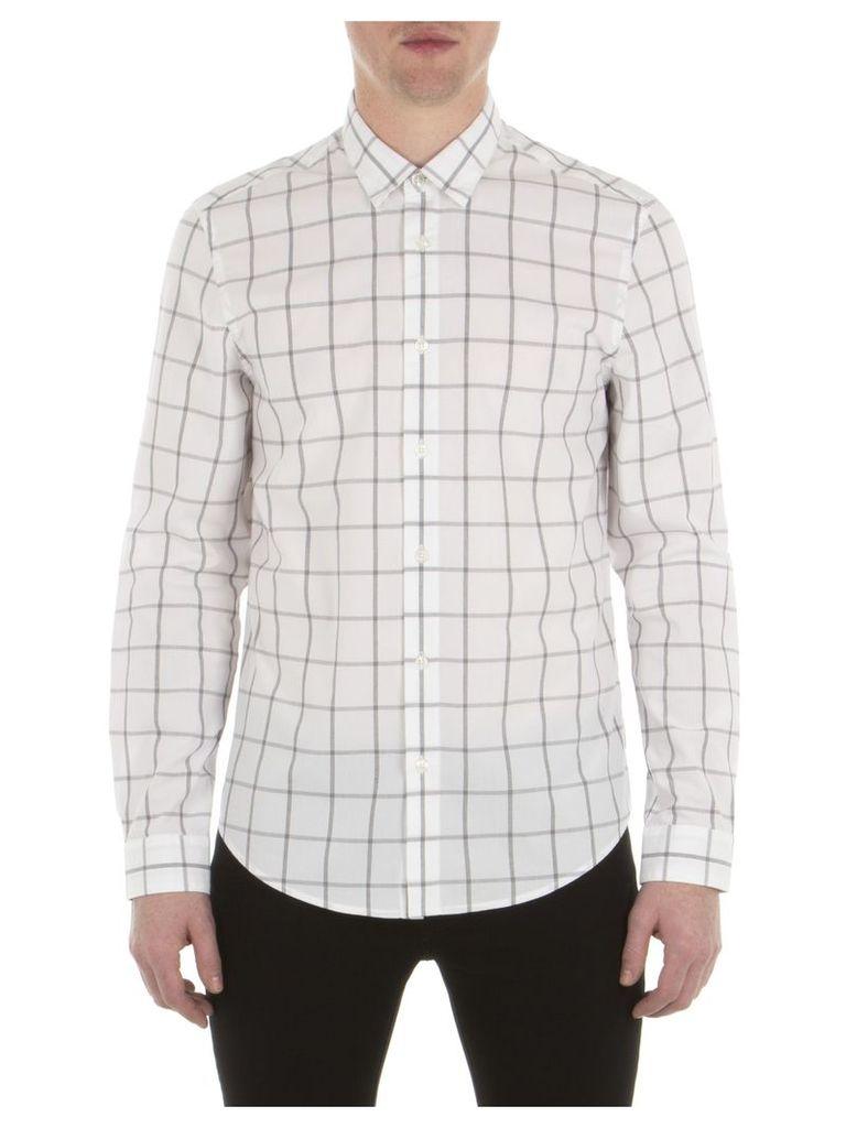 Long Sleeve Windowpane Shirt XXS OFW Off White