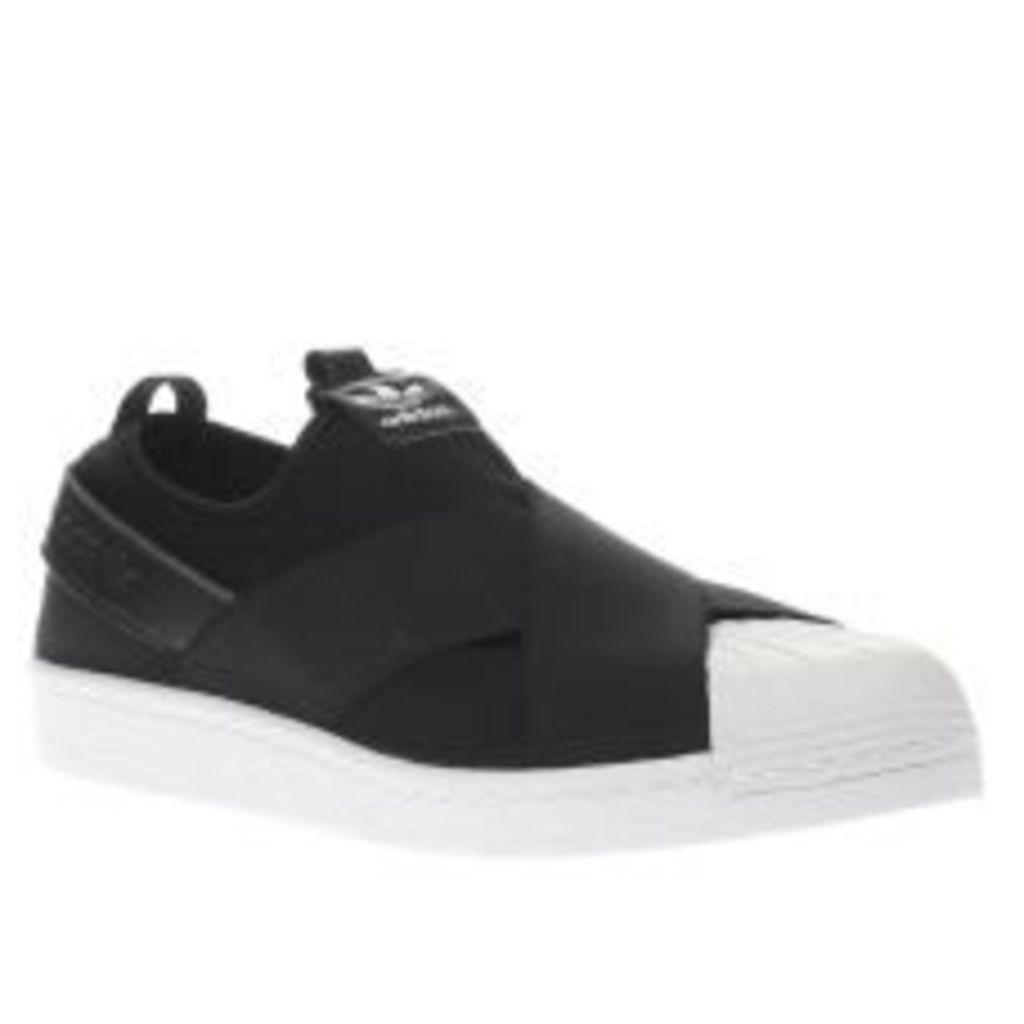 Adidas Black & White Superstar Slip-on Trainers