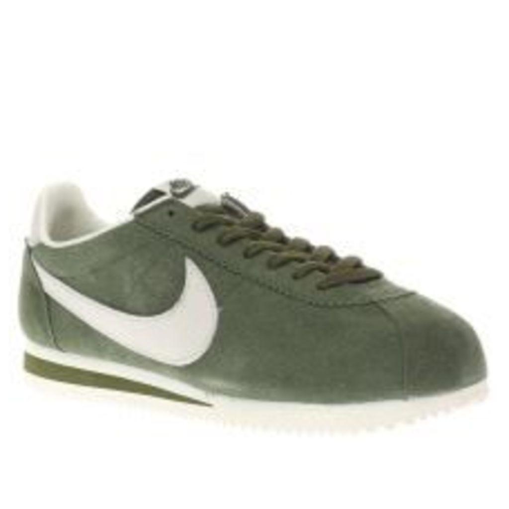 Nike Khaki Cortez Trainers