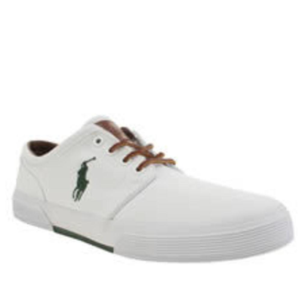 Polo Ralph Lauren White Faxon Shoes