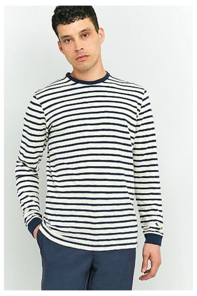 Edwin Tokyo Blues Breton Stripe Long-Sleeve T-shirt, Ivory