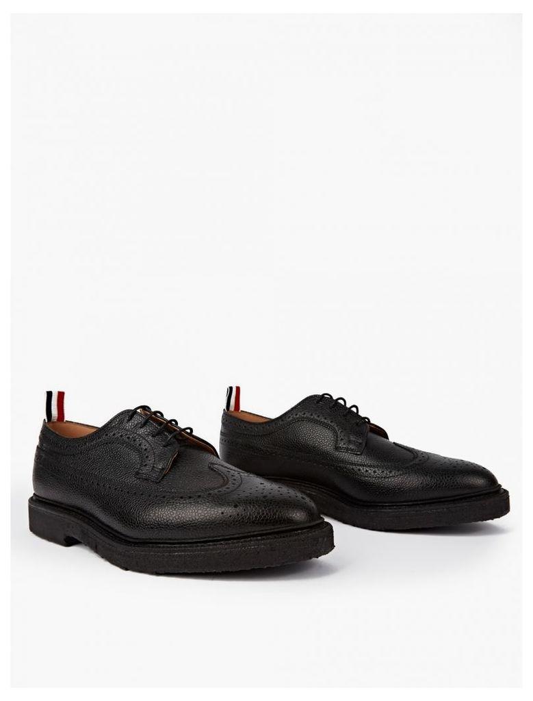 Black Leather Wingtip Brogues