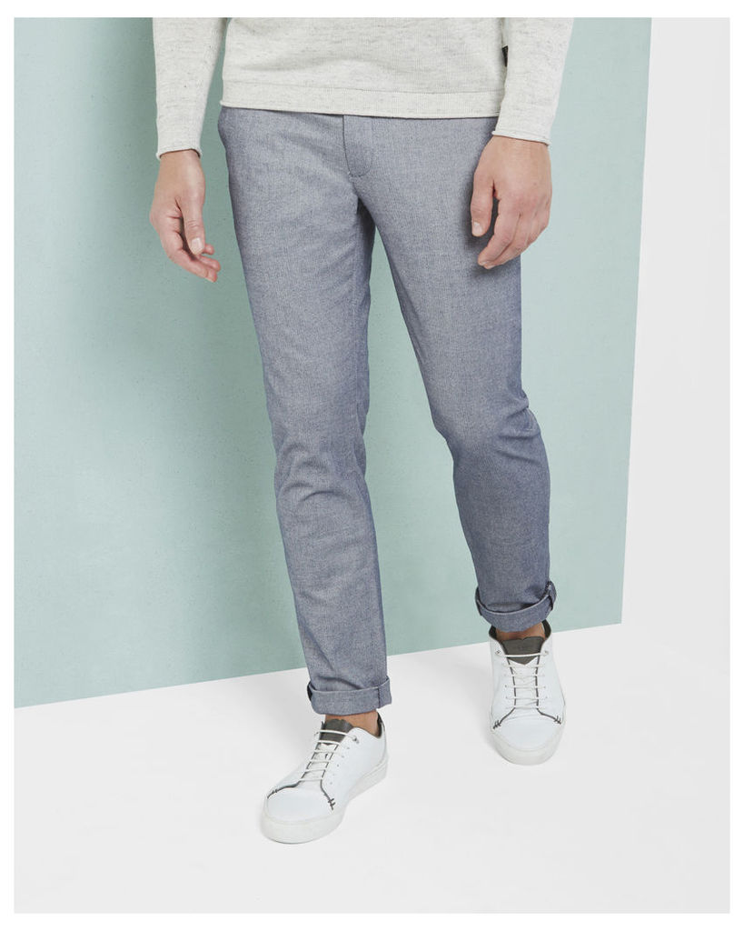 Ted Baker Slim fit Oxford trousers Blue